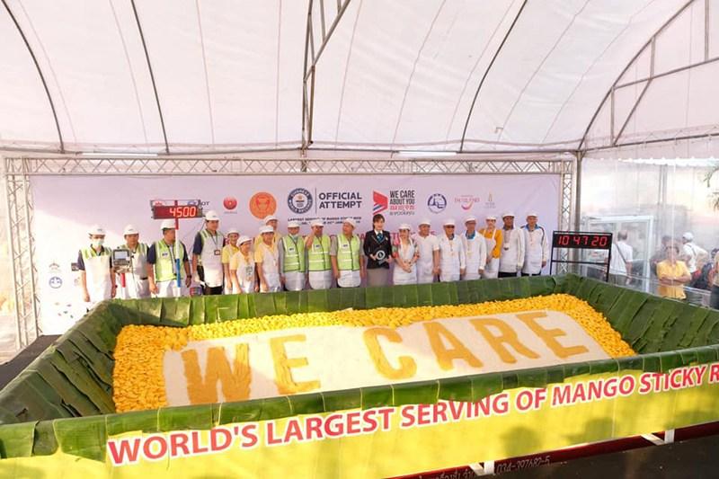 泰國芒果糯米飯創下最大金氏世界紀錄