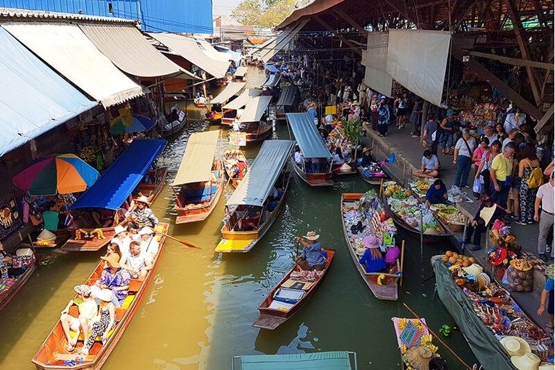 輕鬆暢玩曼谷附近最便利的2處水上市場