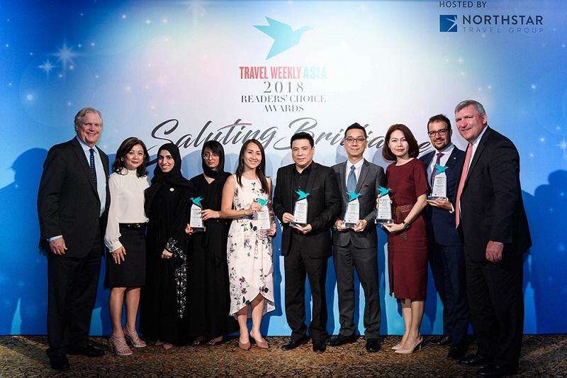 """泰國在亞洲旅遊周刊2018讀者之選獎中被評選為""""亞太地區最佳景點"""""""