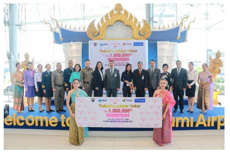 泰國觀光局迎接來自越南的第一百萬名遊客