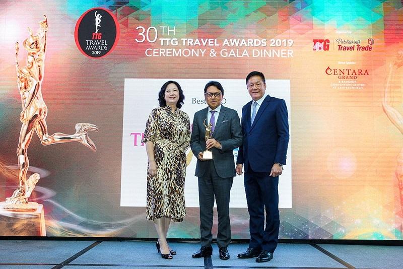 泰國觀光局在TTG旅遊大獎中第五度榮獲最佳國家觀光組織