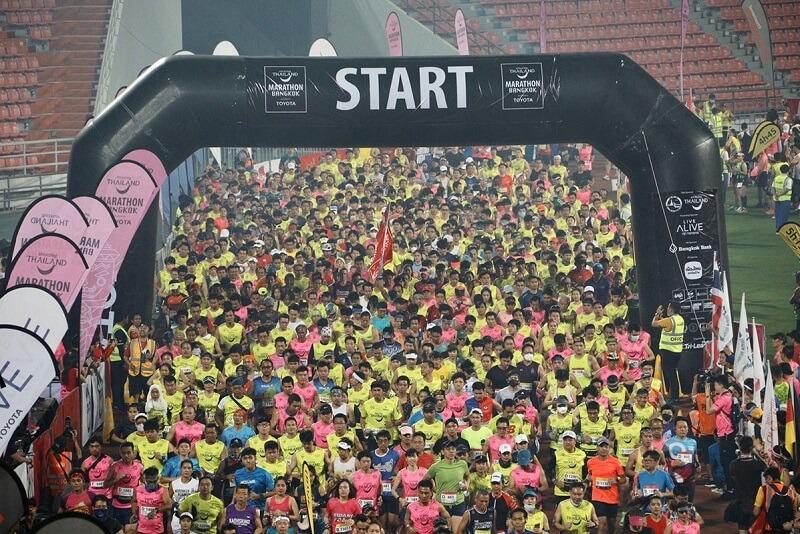 將近30,000名選手參加了2月2日舉行的'2020驚艷泰國曼谷馬拉松大賽'