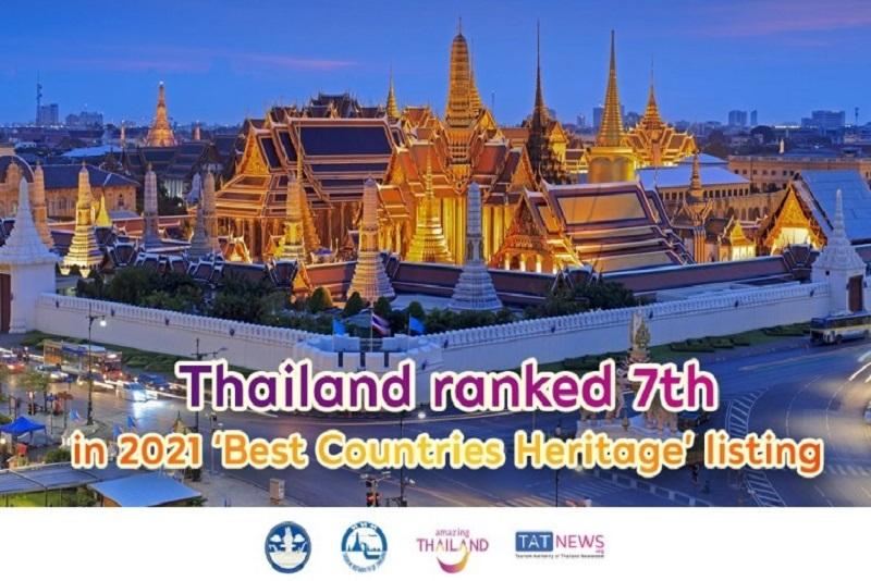 """泰國在""""最佳國家遺產""""前 10 名排名中進一步上升"""