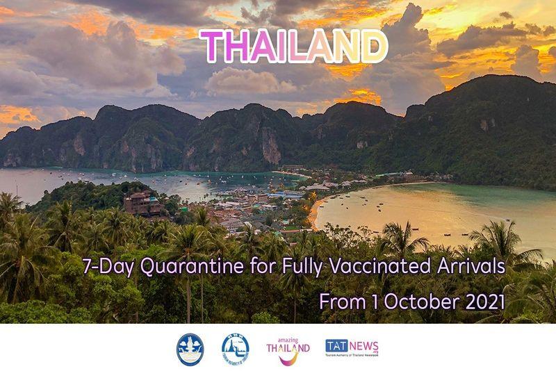 泰國自 2021 年 10 月 1 日起縮短國際入境隔離期