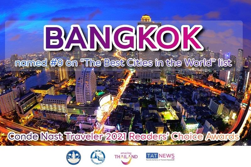《康德納斯特旅行家》的讀者在 2021年讀者選擇獎中以最高排名表揚泰國